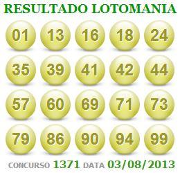 LOTOMANIA 1371