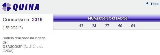quina 3316