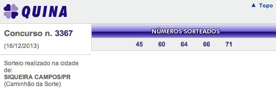 quina 3367