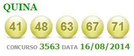 quina 3563 resultado