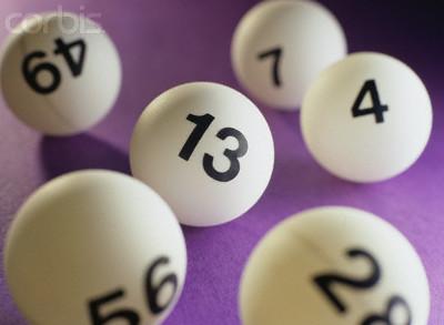 bolas com numeros loteria