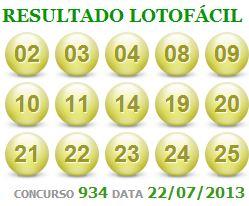 LOTOFACIL 934