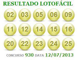 loto facil 930