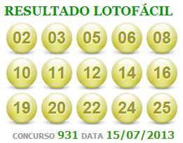lotofácil 931