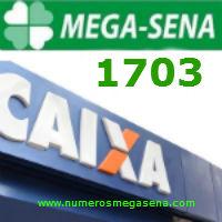 Mega Sena 1703   Resultado Sabado 09 Maio 2015